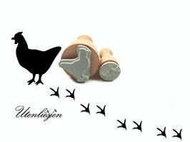 Huhn und Fußspuren - Stempelset