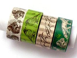 4er Set Masking Tape - Waldtiere