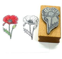 Stempel Klatschmohn, Mohn, Motivstempel, Blumenstempel
