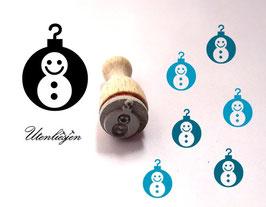 Schneekugel Schneemann - Ministempel