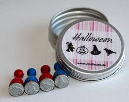 4er Stempelset Halloween