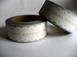 Washi Masking Tape - Happy birthday