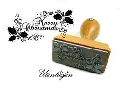 Merry Christmas, Ilex - Motivstempel