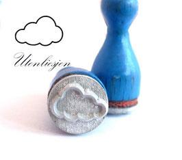 Ministempel - Wolke Rahmen oder gefüllt, Wolke Blitz