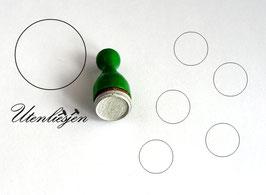 Stempel Kreis Rahmen oder gefüllt - Ministempel