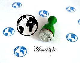 Erde, Weltkugel - Ministempel
