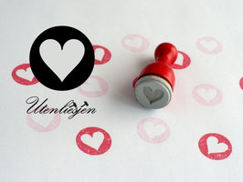 Stempel Herz oder Stern im Kreis - Ministempel