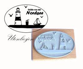 Motivstempel - Grüße von der Nordsee
