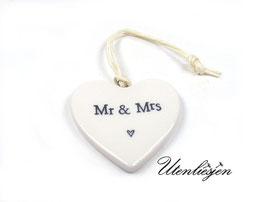 Pozellanherz - Mr&Mrs