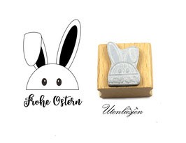 Schlappohrhase, Frohe Ostern, Happy Easter - Motivstempel