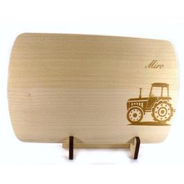 Holzbrettchen - Traktor mit Namen