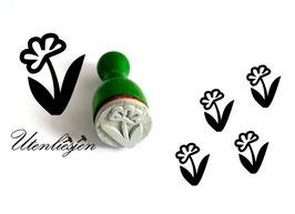 Stempel Blume - Ministempel