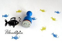 Fisch mit Luftblasen - Ministempel