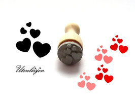 Stempel Herzen - mini Stempel