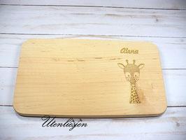 Holzbrettchen - Giraffe mit Namen