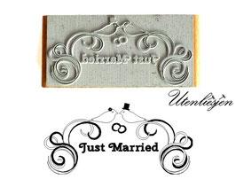 Motivstempel - Just married