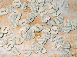 Tischkonfetti Love, Herzen