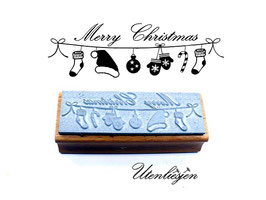 Weihnachtsleine, Merry Christmas - Motivstempel