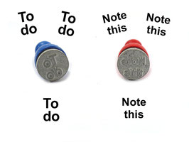 To do oder Note this - Ministempel
