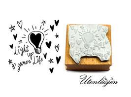 Light up your life - Motivstempel