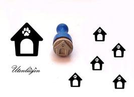 Hundehütte - mini Stempel