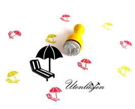 Liegestuhl mit Sonnenschirm - Ministempel