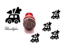 Stempel Auto mit Tannenbaum - Ministempel