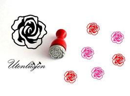 Stempel Rose - Ministempel
