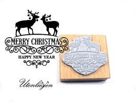 Rehe, Merry Christmas - Motivstempel
