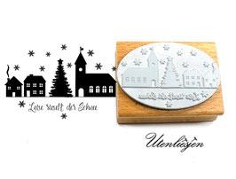 Weihnachtsdorf - Leise rieselt der Schnee - Motivstempel