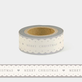 Washi Tape - Merry Christmas, gewellter Rand