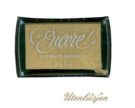 Encore Metallic Stempelkissen, gold,  silber