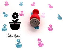 Stempel Blumentopf - Ministempel