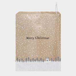20 Papiertüten - Merry Christmas mit Tannen und Haus