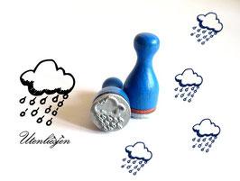 Wolke Regen, Regenwolke - Motivstempel mini