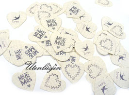 Tischkonfetti - Mr&Mrs, love