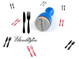 Messer, Gabel - Ministempel