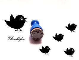 Vogel fliegend - Ministempel