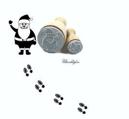 Stempelset Nikolaus mit Fußspuren