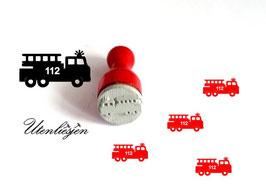 Feuerwehrauto - Ministempel