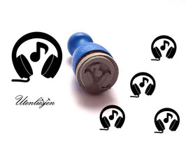 Kopfhörer mit Note - mini Stempel
