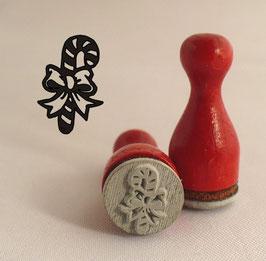 Zuckerstange mit Schleife - Ministempel