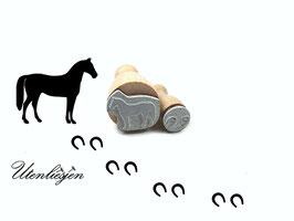 Pferd und Hufen - Stempelset