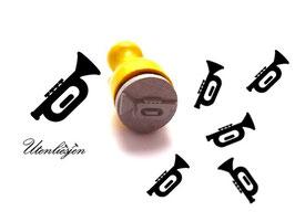 Trompete - mini Stempel