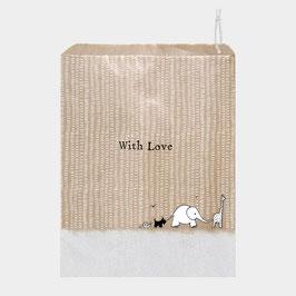 20 Papiertüten, Kraftpapier mit Giraffe, Elefant, Hund, Schnecke