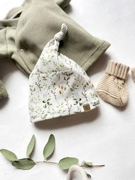 Baby Knotenmütze Olivenzweige
