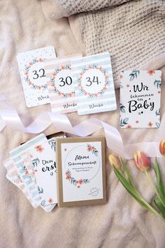 Schwangerschafts-Karten Flowery