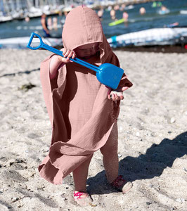 Musselin Badeponcho old rose
