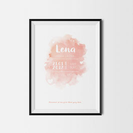 Baby Birth Print Peach