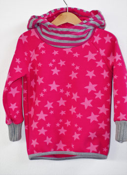 Kapuzenpulli Sterne pink